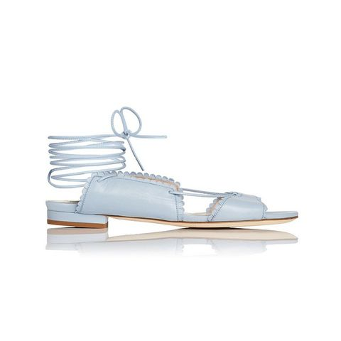 Jackie Blue Flat Sandals