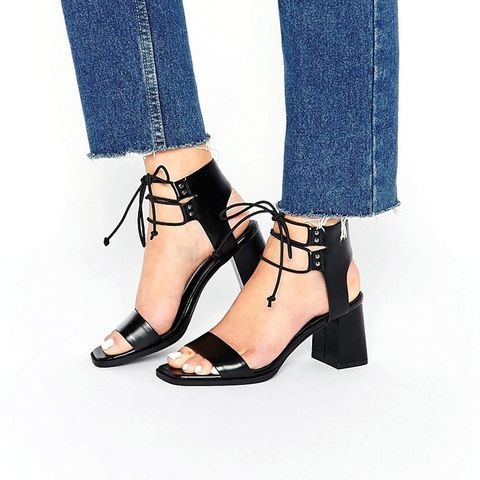 Totally Lace-Up Heeled Sandals