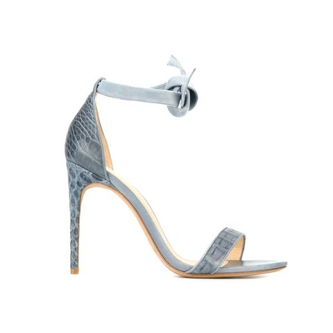 Embossed Stiletto Sandals