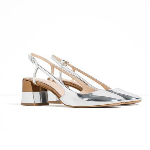 Laminated Block Heel Shoes
