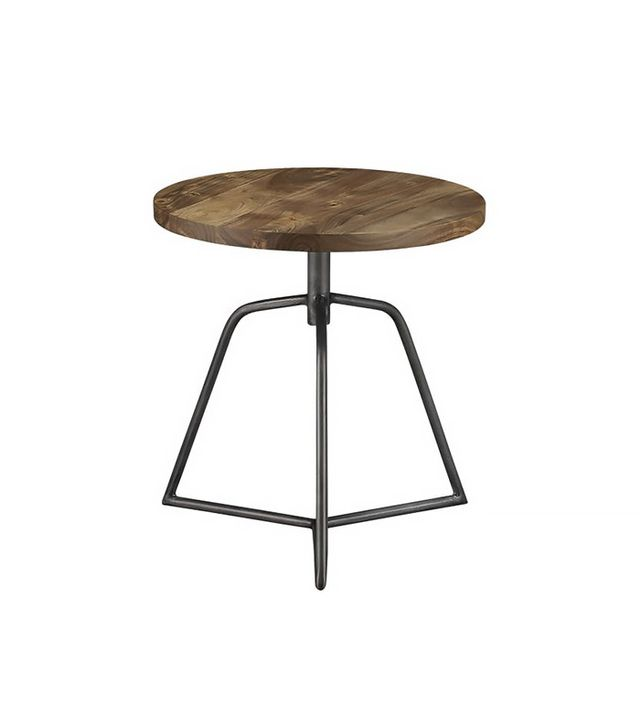 CB2 Dot Acacia Side Table-Stool