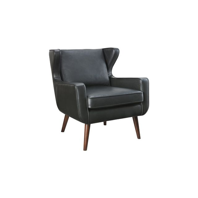 Freedom Danish Wing Chair in Essential Black
