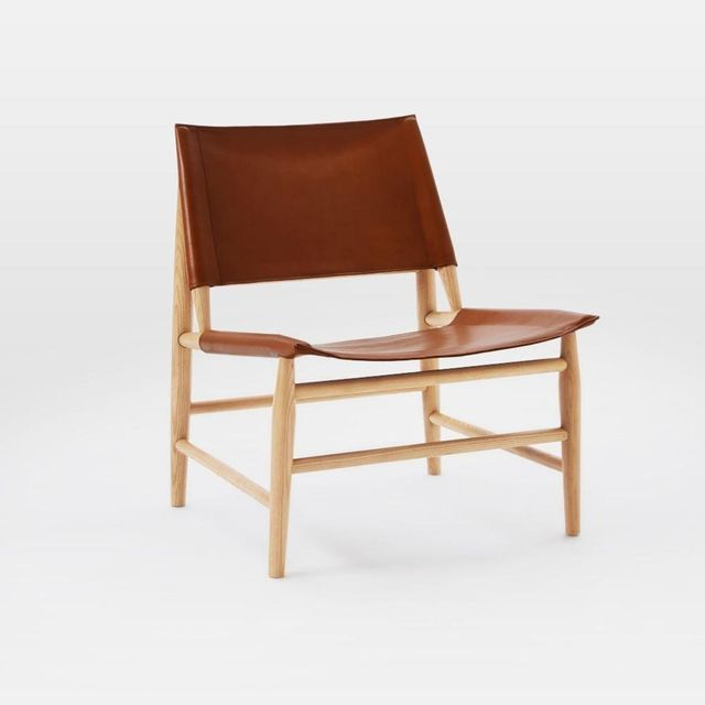 West Elm Leather Sling Chair