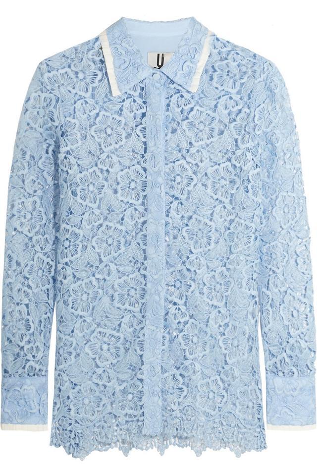 Topshop Unique Taplow Guipure Lace Shirt