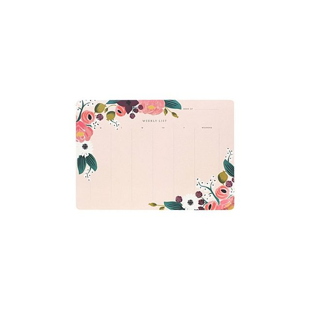 Rifle Paper Co Weekly Desk Planner