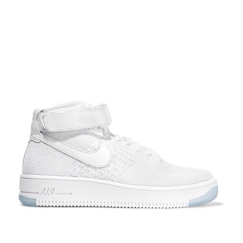 Air Force 1 Flyknit Mesh and Textured-Leather Sneakers