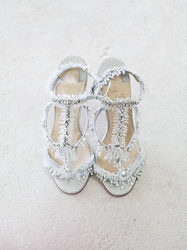 A Sun-Drenched Photo of the Bride's Pretty Heels