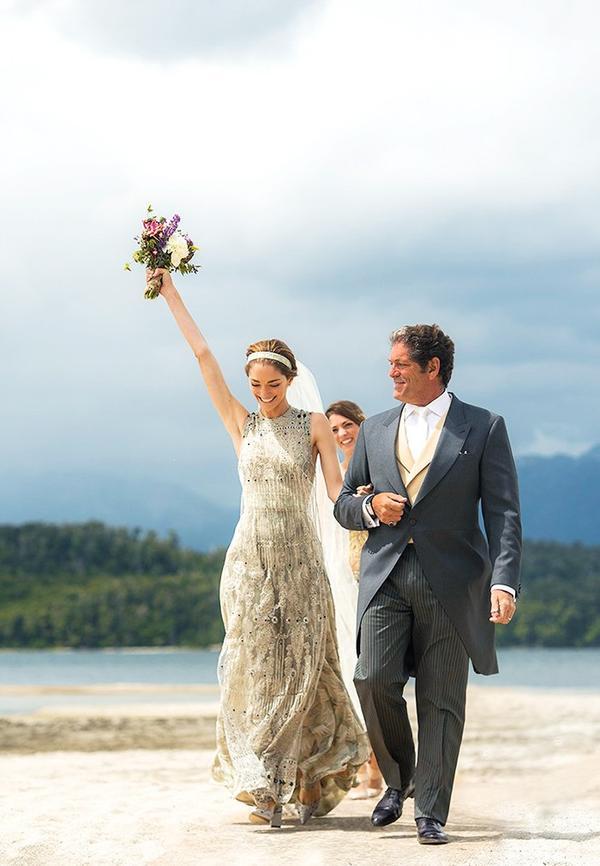 A Stunning Designer Wedding Gown