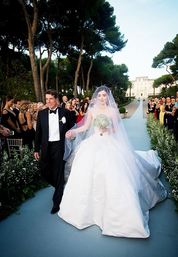The wedding:Nell Diamond and Teddy Wasserman in Antibes The gown: Dior