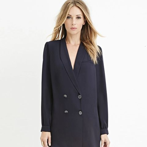 Contemporary Double-Breasted Blazer