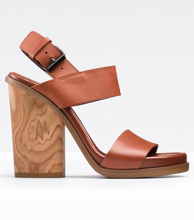 Vince Haley Leather Platform Sandals