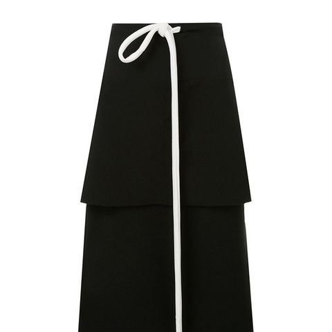 Tiered Tie-Up Skirt