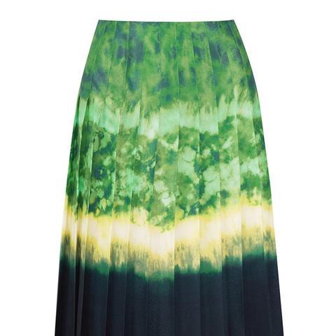 Zurina Pleated Printed Chiffon Skirt