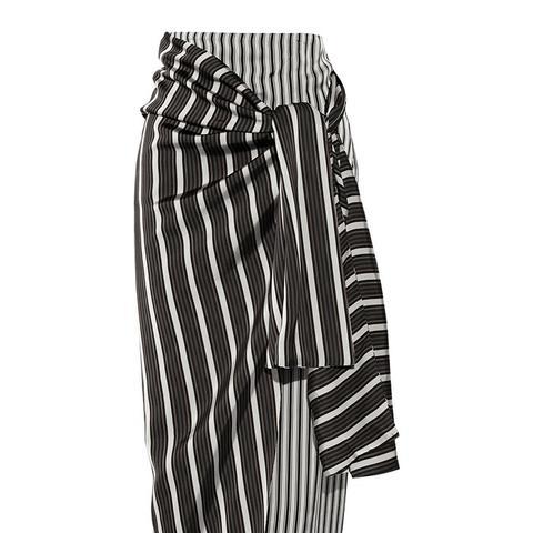 Fran Striped Satin Wrap Skirt