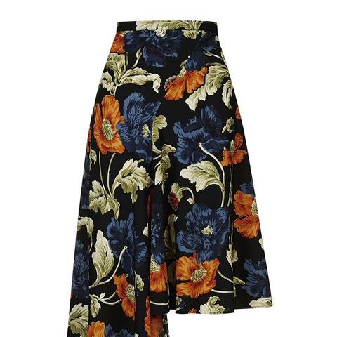 Floral Asymmetric Skirt
