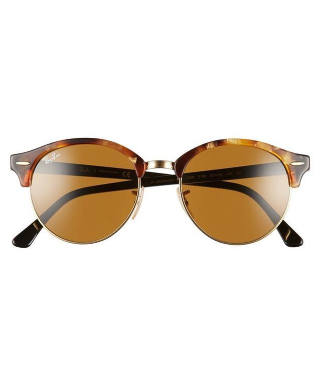 Ray-Ban Club 51mm Round Sunglasses