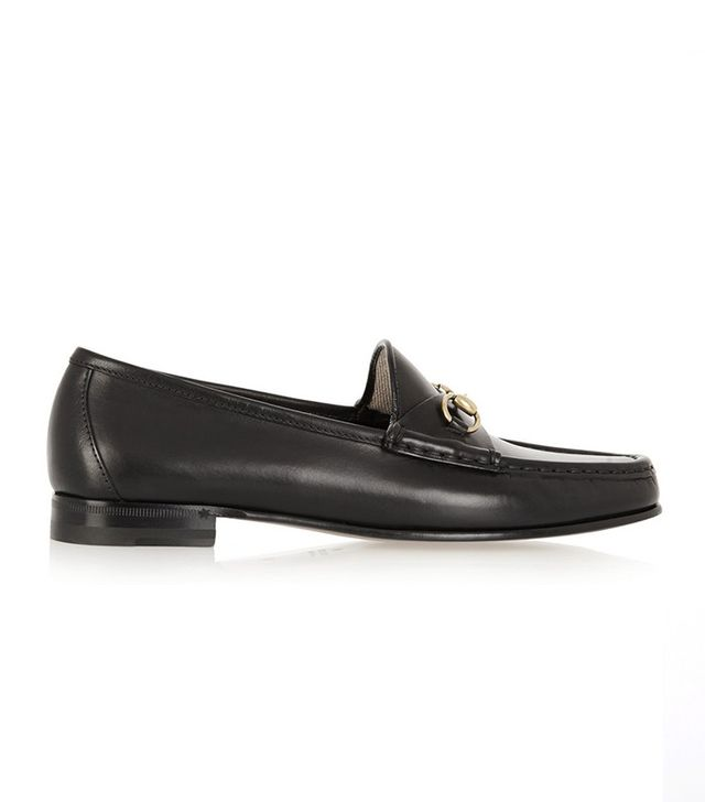 Gucci Horesbit-Detailed Leather Loafers