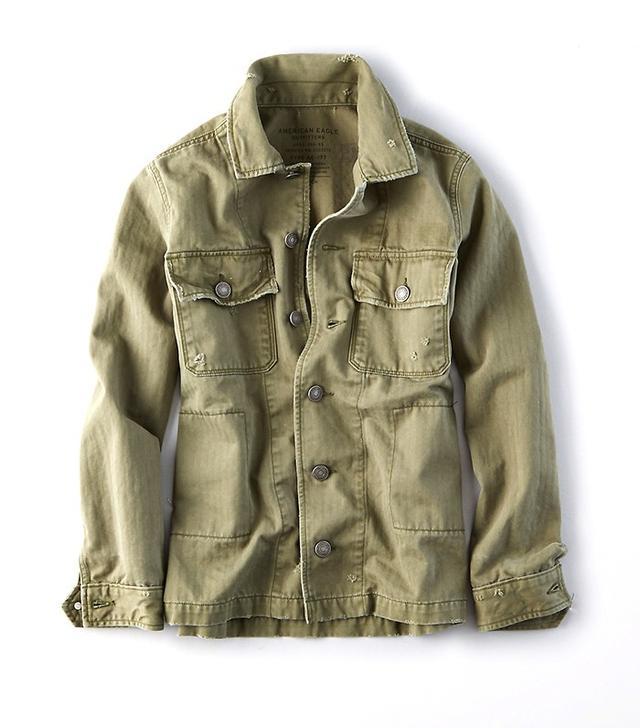 AEO Military Shirt Jacket
