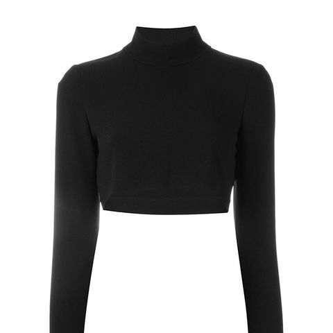 Cropped Roll Neck Jumper