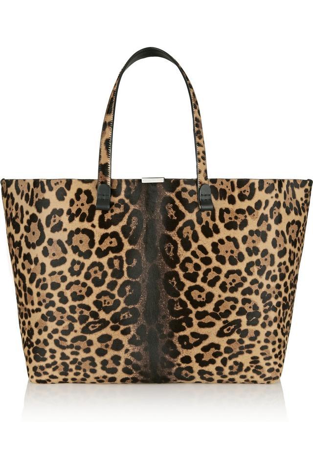 Victoria Beckham Leopard-Print tote