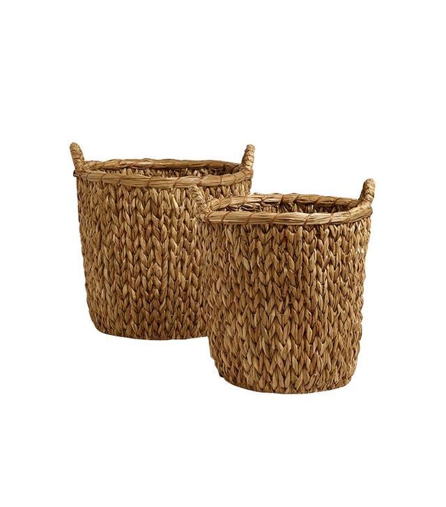 World Market Natural Sweater Weave Abbie Baskets