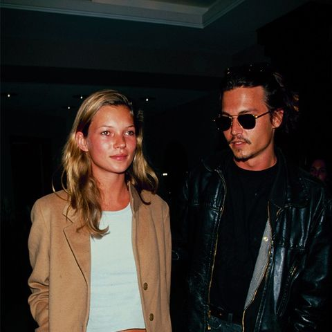 Kate Moss '90s style: tailored wool coat