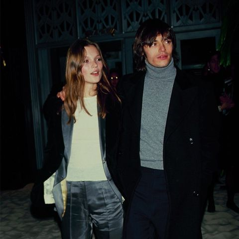 Kate Moss '90s style: tomboy suiting