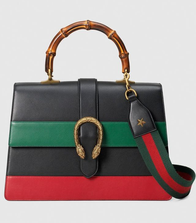 Gucci Dionysus Leather Top Handle Bag
