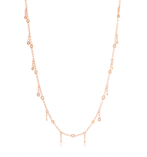 Jacquie Aiche 14k Gold Diamond Shaker Necklace