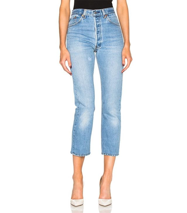 Re/Done High Rise Crop Jeans