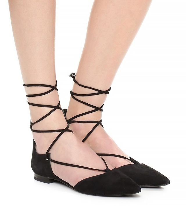 Kendall + Kylie Sage Lace-Up Ankle Flats