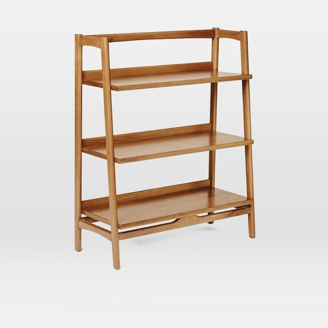 West Elm Mid-Century Bookshelf - Low Wide