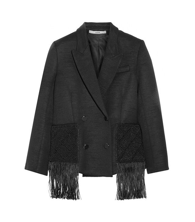 Edun Macrame Trimmed Wool-Blend Jacket