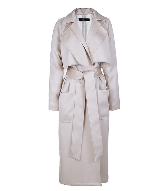 Tibi Double Face Satin Soft Trench Coat