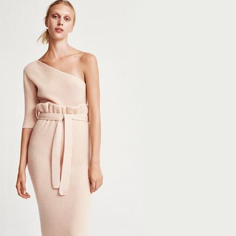 Ribbed Paper Bag Skirt