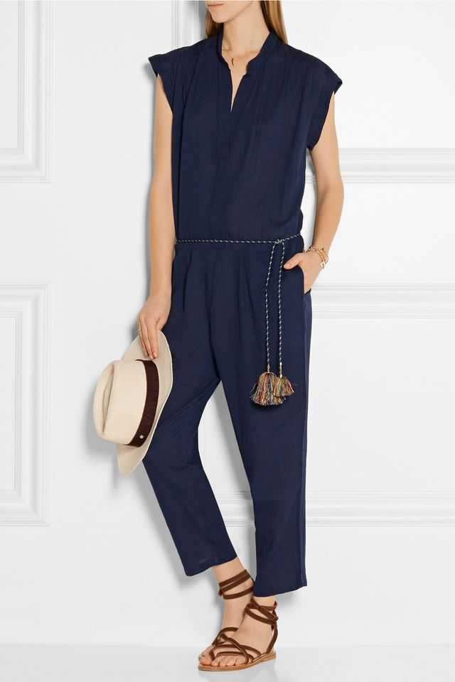 Sea Cotton-Voile Jumpsuit
