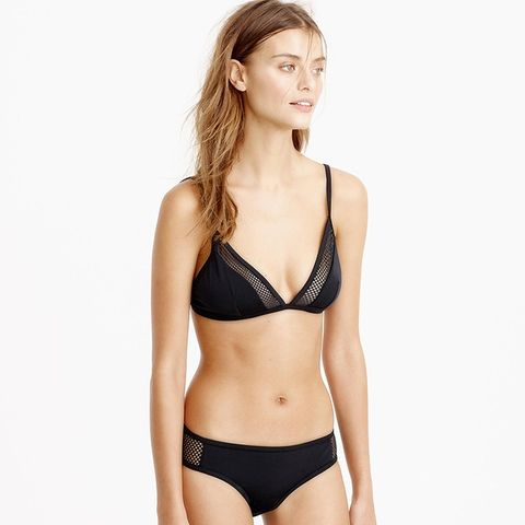 Mesh French Bikini Top and Mesh Hipster Bikini Bottoms
