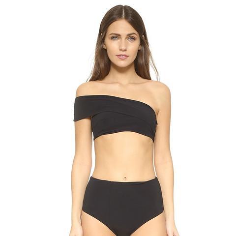 Sagamore Bandeau Bikini Top and Normandy Bikini Bottoms