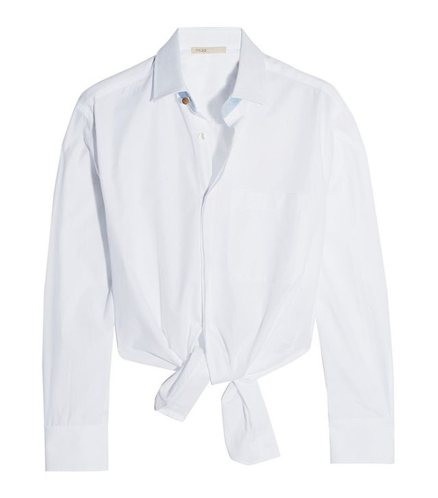 Maje Tie-Front Shirt