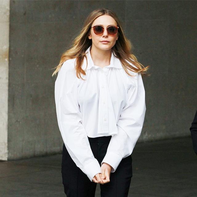 Elizabeth Olsen Tests Out One of Spring's Coolest Trends