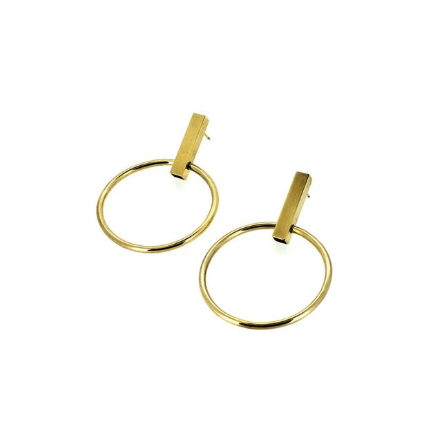Holly Ryan Gold Minimalist Hoops