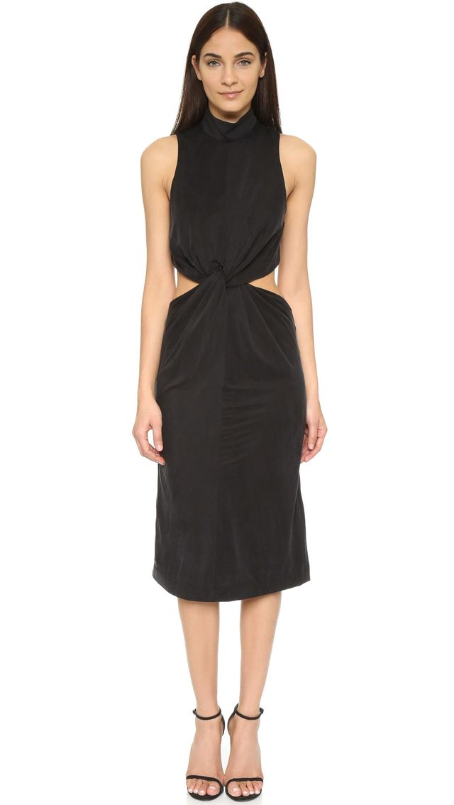Kendall + Kylie Front Knot Jersey Dress