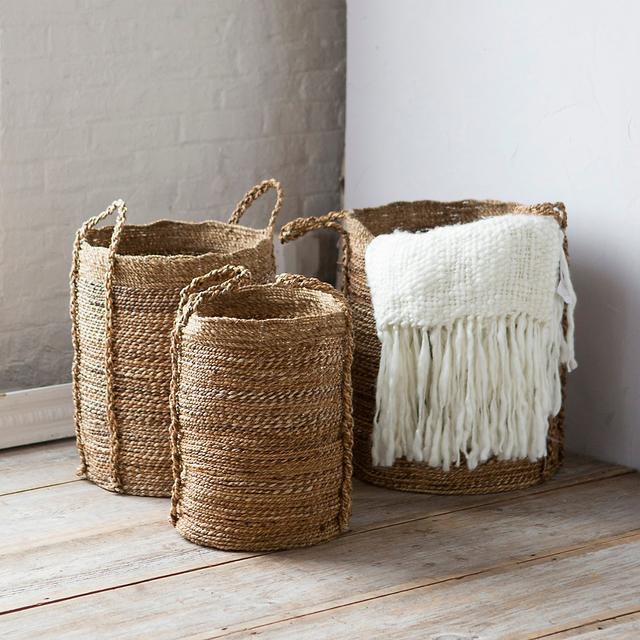 Terrain Woven Bark & Burlap Basket