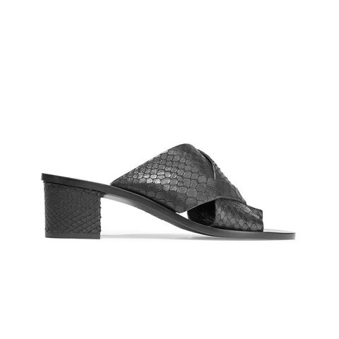 Felicia Snake-Effect Leather Sandals