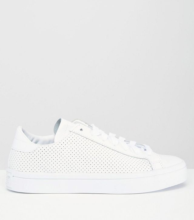 Adidas Originals Perforated Leather Court Vantage Sneakers