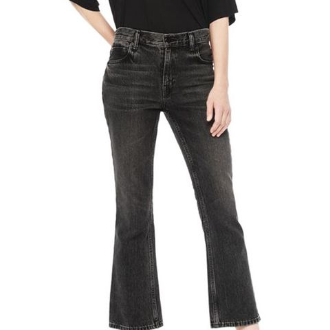 Trap Boot-Cut Cropped Jean