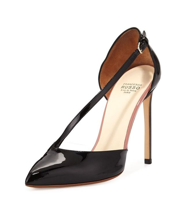 Francesco Russo Asymmetric-Strap d'Orsay Pumps
