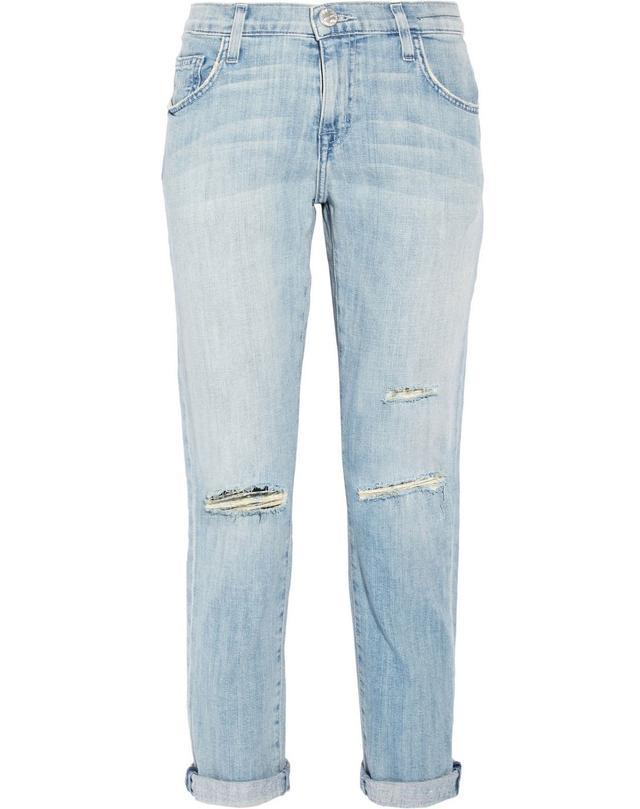 Currentt/Elliott The Fling Distressed Low-Rise Boyfriend Jeans