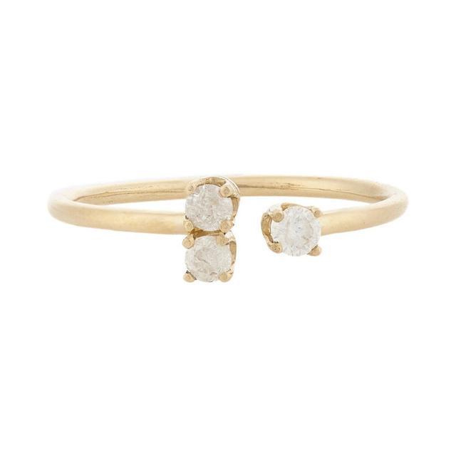 Loren Stewart Diamond & Gold Cluster Ring