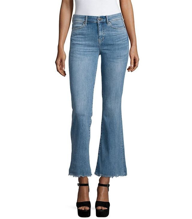 M.i.h Jeans Lou Flare-Leg Cropped Jeans